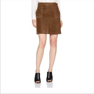 NWT BB Dakota Brown Faux Studed Skirt Size 4